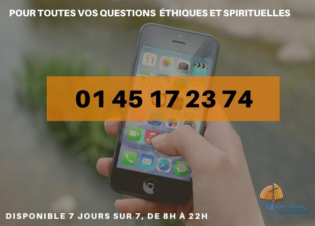 Numéro d'écoute des catholiques dans le diocèse de Créteil en période de confinement