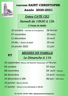 Dates caté CE2